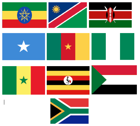 are member countries' flag