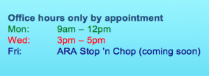 ARA office hours new
